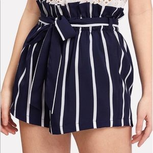 New Charlotte Russe paperbag Navy shorts 3x